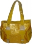 Women's Bag -Yellow  glazed leather
